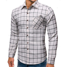 Load image into Gallery viewer, Men Grid Printing Casual Shirt