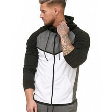 Load image into Gallery viewer, Men Zipper Splicing Hoodie Sweatshirt