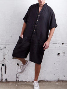 Men Casual Solid Loose Shirt