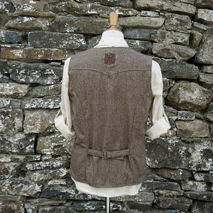 Men Single Breasted Herringbone Waistcoat