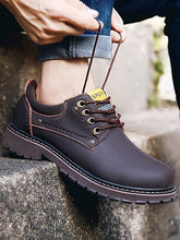 Load image into Gallery viewer, Solid Lace-up Soft Casual Boot Shoes