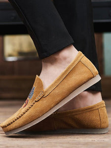 Embroidered Slip-on Casual Flat Shoes