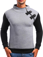 Load image into Gallery viewer, Men Splicing Hoodie Sweatshirt