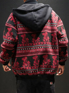 Men  Fashion Printing Hoodie Outerwear