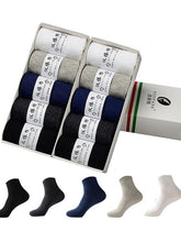 Load image into Gallery viewer, 5Pairs Business Breathable Cotton Socks