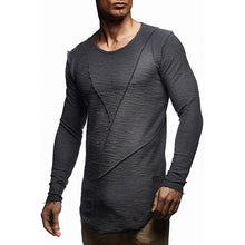 Load image into Gallery viewer, Men Round Neck Solid Blouse T-Shirt