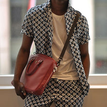 Load image into Gallery viewer, Men Polka-Dot Short Sleeve&Shorts Bottom Suit