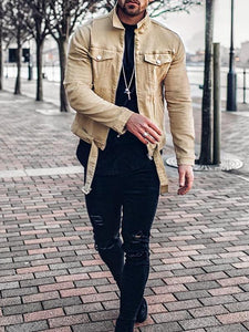Men Spring Casual Denim Jacket