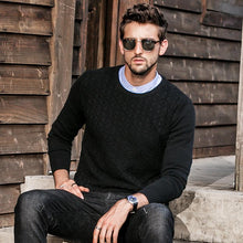 Load image into Gallery viewer, Men Round Neck Solid Sweater Tops