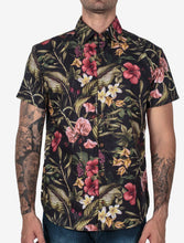Load image into Gallery viewer, Men Urban Style Floral Short Sleeves Shirt