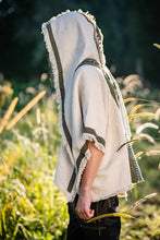 Load image into Gallery viewer, Men Hooded Poncho Boho Shawl