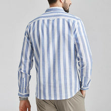 Load image into Gallery viewer, Men Long Sleeves Striped Blouse Shirt