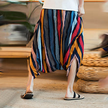 Load image into Gallery viewer, Men Striped Wide Leg Trousers