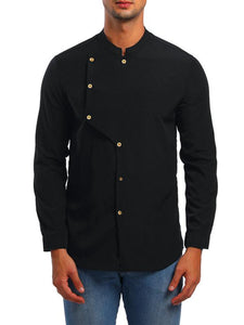 Men Asymmetric Button Shirt