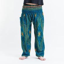Load image into Gallery viewer, Men Blue Printed Harem Pants
