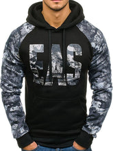 Load image into Gallery viewer, Men Camouflage Letter Printing Sweatshirt