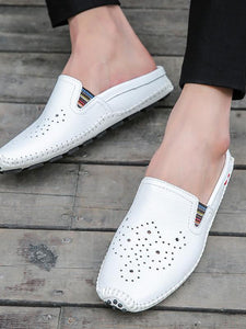 Solid Hollow Casual Simple Flat Shoes