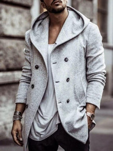Men Winter Fashion Hoodie Coat