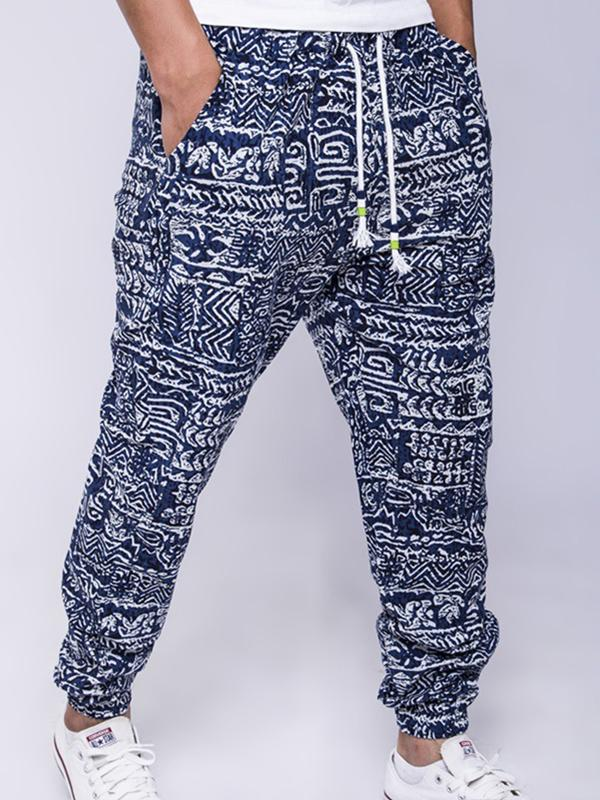 Men Ethnic Style Printed Casual Pant