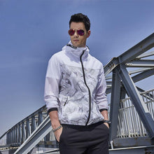 Load image into Gallery viewer, Men Zip Up Hoodie Outdoor Windbreakers