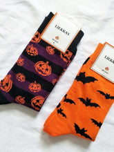 Load image into Gallery viewer, 2Pairs Hallowen Breathable Cotton Socks(For US Size7-10)