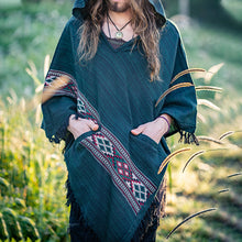 Load image into Gallery viewer, Men Hooded Poncho Boho Style Shawl