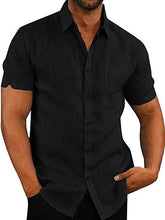 Load image into Gallery viewer, Men Short Sleeve Cotton Shirt