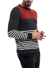 Load image into Gallery viewer, Men Striped Knitted Sweater Tops