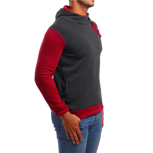 Men Splicing Hoodie Sweatshirt