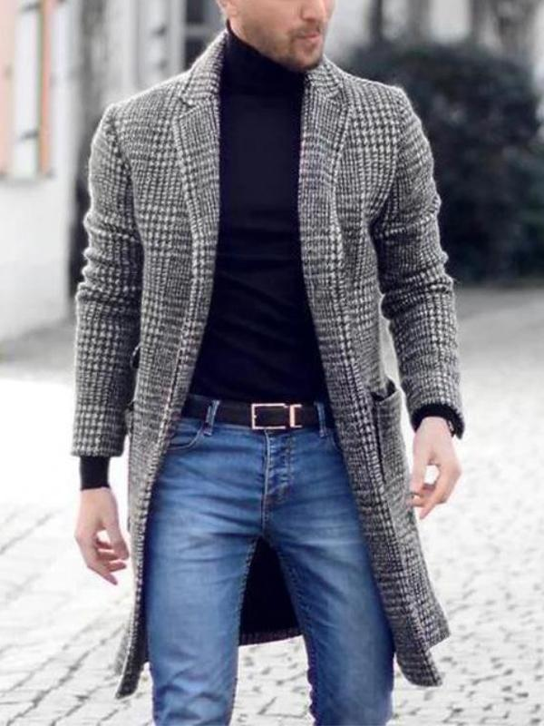 Men's Winter Plus Size Cardigan Coat
