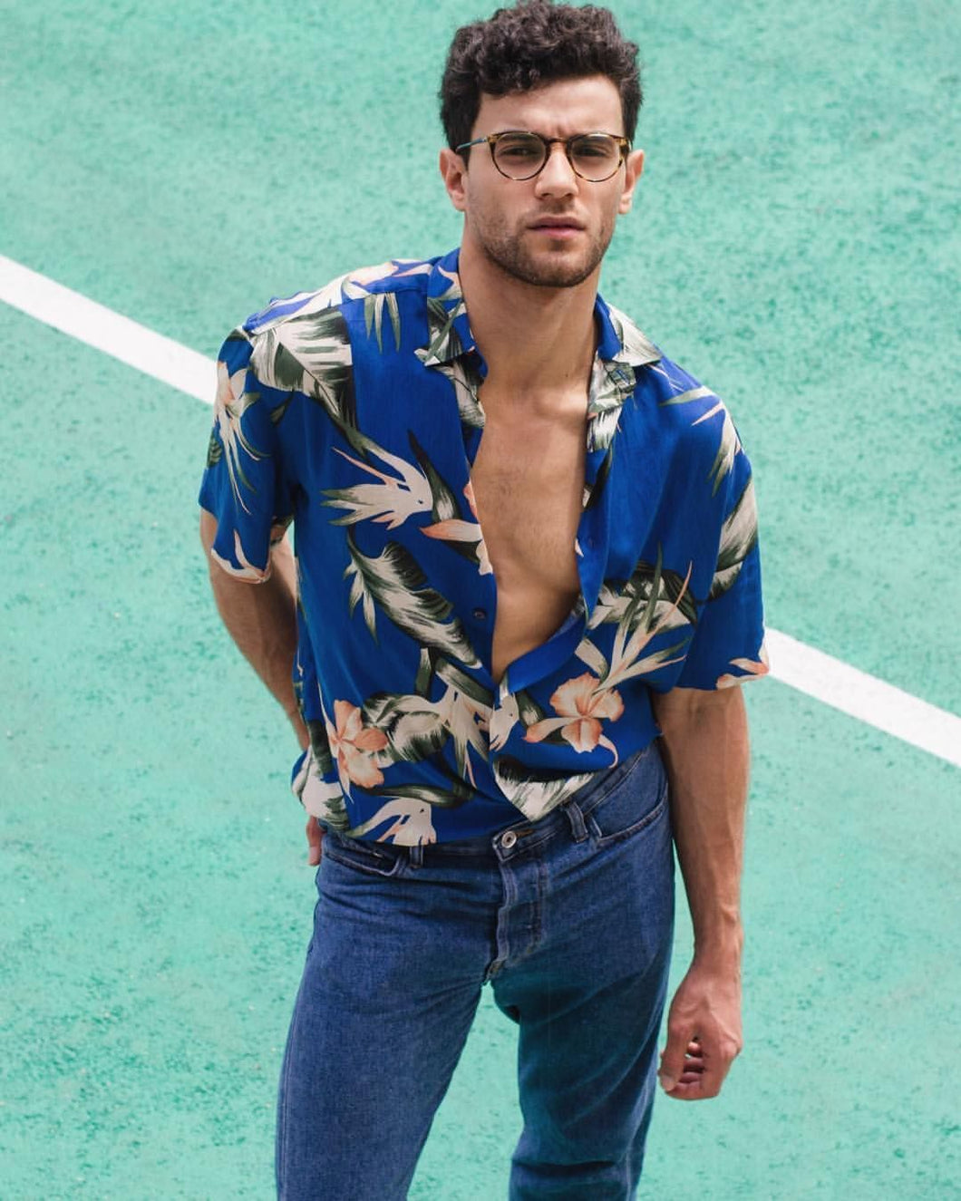 Men Casual Vacation Printed Shirt