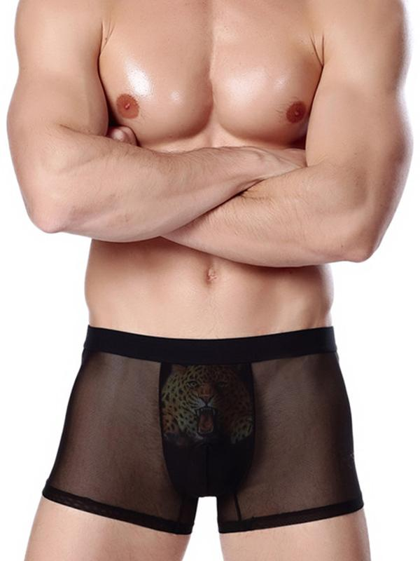 4PCS Men's Printed Breathable Underwear Briefs