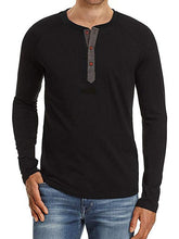 Load image into Gallery viewer, Men Button Long Sleeve T-Shirt