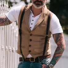 Load image into Gallery viewer, Men Lapel Single Breasted Casual Waistcoat