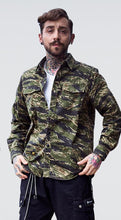 Load image into Gallery viewer, Men Military Style Blouse Shirt