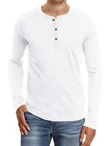 Men Button Long Sleeve T-Shirt
