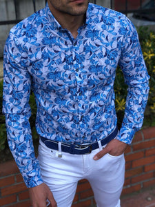 Men Classic Printed Long Sleeves Shirt