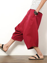 Load image into Gallery viewer, Plus Size Solid Color With Pockets Loose Pants Bottoms