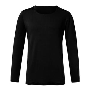 Men V Neck Long Sleeve Tee