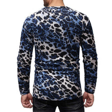 Load image into Gallery viewer, Men Basic Leopard Print Blouse