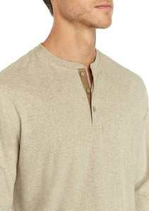 Men Button Neck Solid Shirt