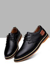Load image into Gallery viewer, Men Lace-up Leather Loafers Shoes