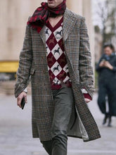 Load image into Gallery viewer, Men Classic Houndstooth Overcoat
