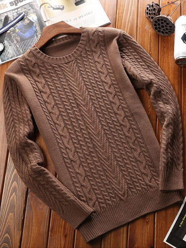 Men Solid Long Sleeve Sweater Tops