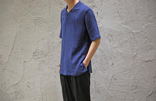 Load image into Gallery viewer, Men Solid Linen Shirt