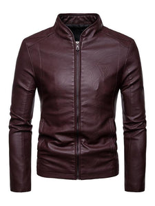 Men PU Jacket Coat