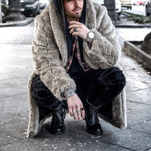 Load image into Gallery viewer, Men Winter Hip-Hop Style Plain Thicken Plush Coat