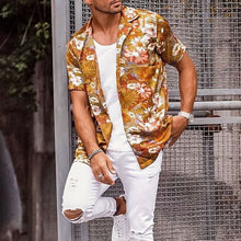 Load image into Gallery viewer, Men Summer Trendy Printed Short Sleeves Shirt