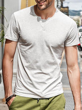 Load image into Gallery viewer, Men V-Neck Simple Tee