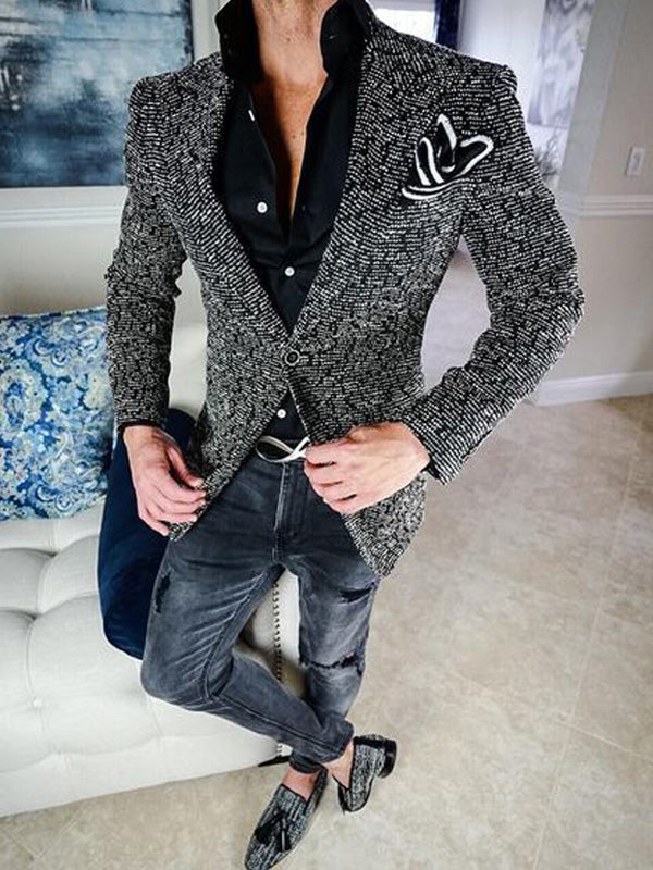 Men Plaid Trendy Casual Blazer